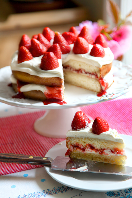 Mega Strawberry Summer Cake | DonalSkehan.com, Perfect with a cup of tea on a summer's day!