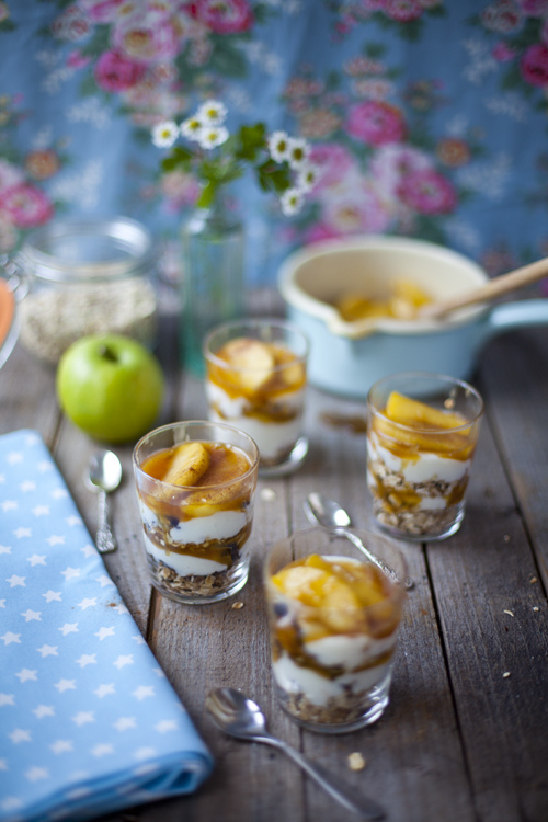 Caramel Apple Granola Pots | DonalSkehan.com, A true weekend treat!