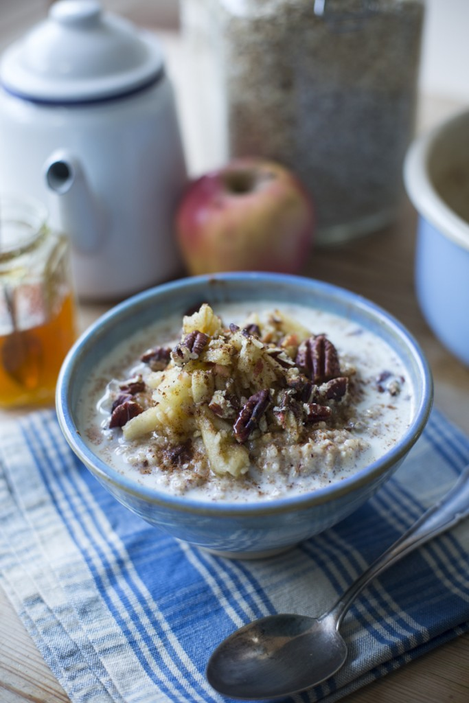 Apple & Cinnamon Porridge   DonalSkehan.com, This will set you up for the day and is sweet enough to feel like a treat!