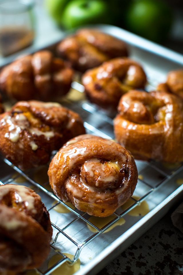 Maple-Glazed Apple Fritters | DonalSkehan.com,  Make the most of Autumn's apples with this cinnamon-spiked bun recipe.