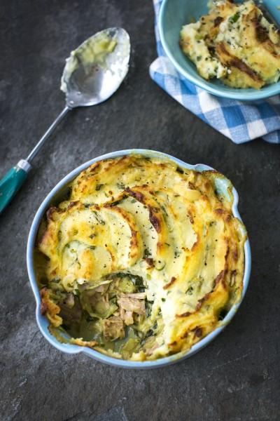 Colcannon Ham & Cabbage Pies