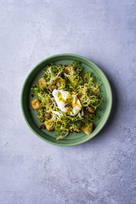 Bacon and Egg Frisée Salad | DonalSkehan.com