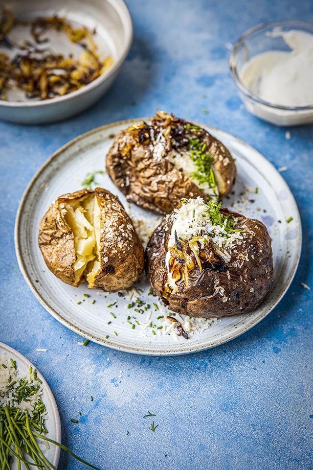 Millionaire's Loaded Baked Potato Platter | DonalSkehan.com