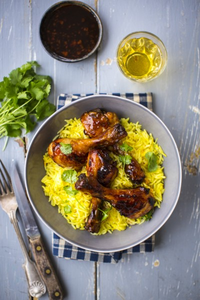Sweet & Sticky Balsamic Chicken with Saffron Rice | DonalSkehan.com, Quick and easy midweek dinner.