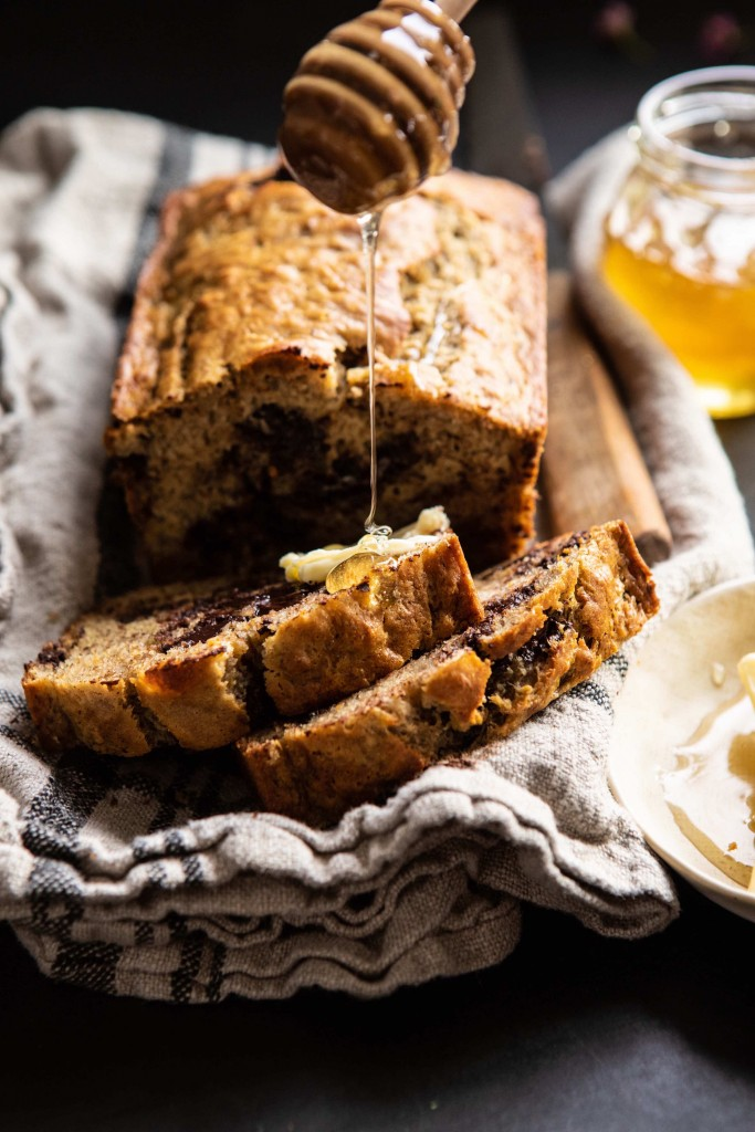 Chocolate Chunk Coconut Banana Bread | DonalSkehan.com, Chocolate and banana meet for this all time classic.