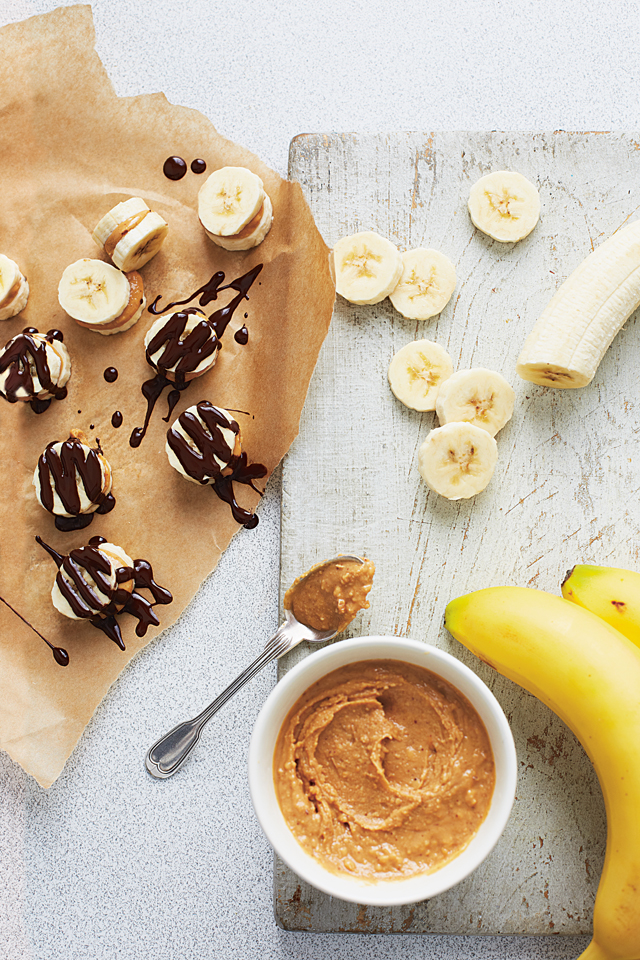 Banana and Peanut Stacks | DonalSkehan.com, A sweet little snack from The Lolly Book.