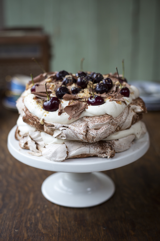 Black Forest Pavlova | DonalSkehan.com, A modern take on a retro classic!