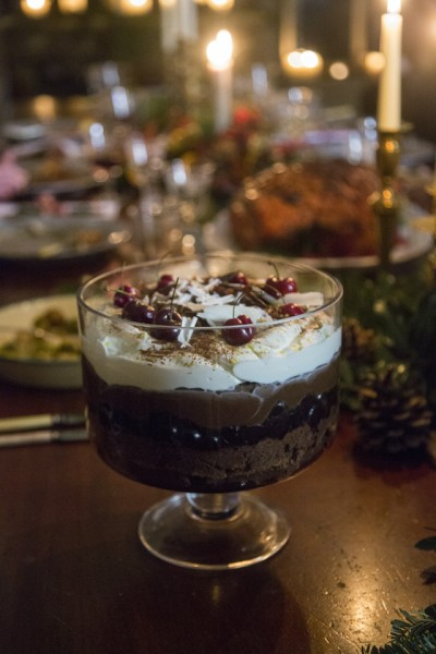 Black Forest Brownie Trifle