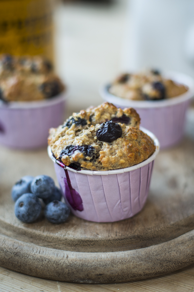 Blueberry Chia Seed Muffins | DonalSkehan.com, Portable, healthy breakfast and perfect with a cuppa!