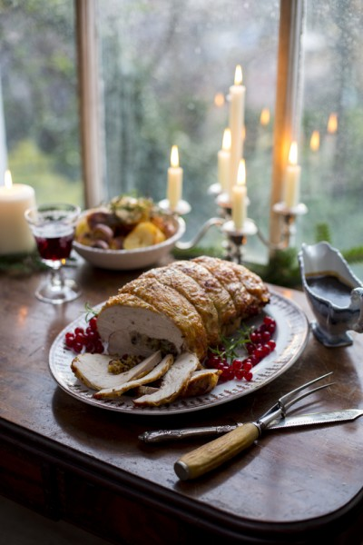 Roast Rolled Turkey Breast with Cranberry & Sage Stuffing