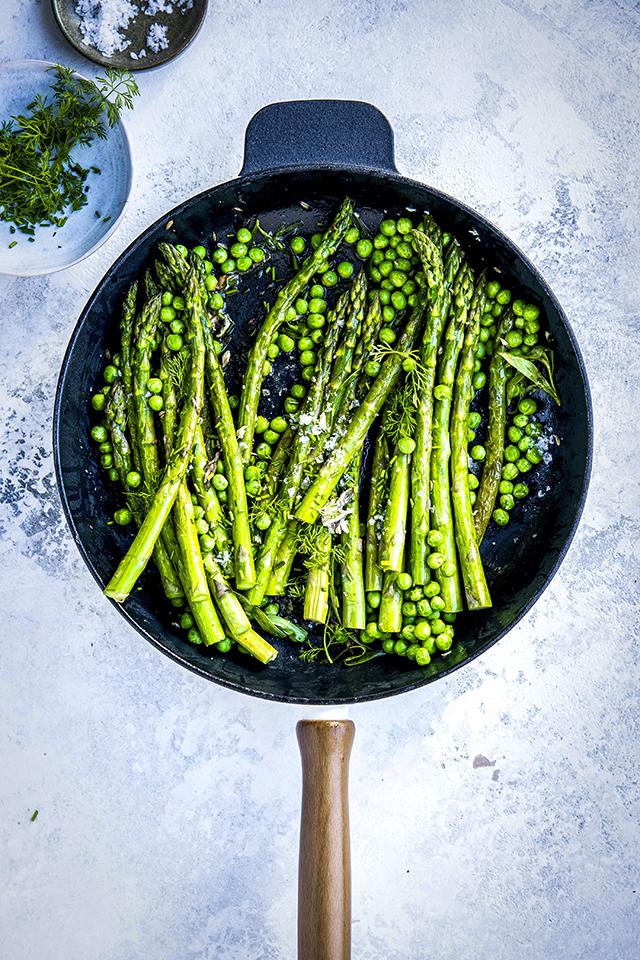 Butter Braised Asparagus & Peas | DonalSkehan.com