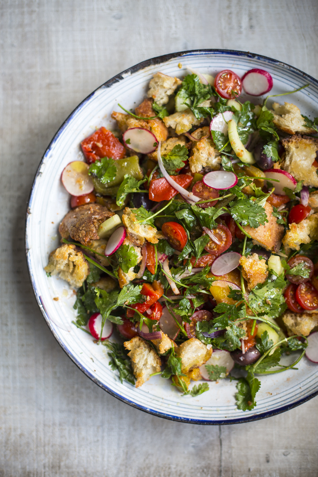 Middle Eastern Bread Salad | DonalSkehan.com, One of the best ways of using up that stale sourdough lurking at the bottom of the bread bin.