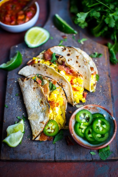 Seriously Cheesy Breakfast Tacos