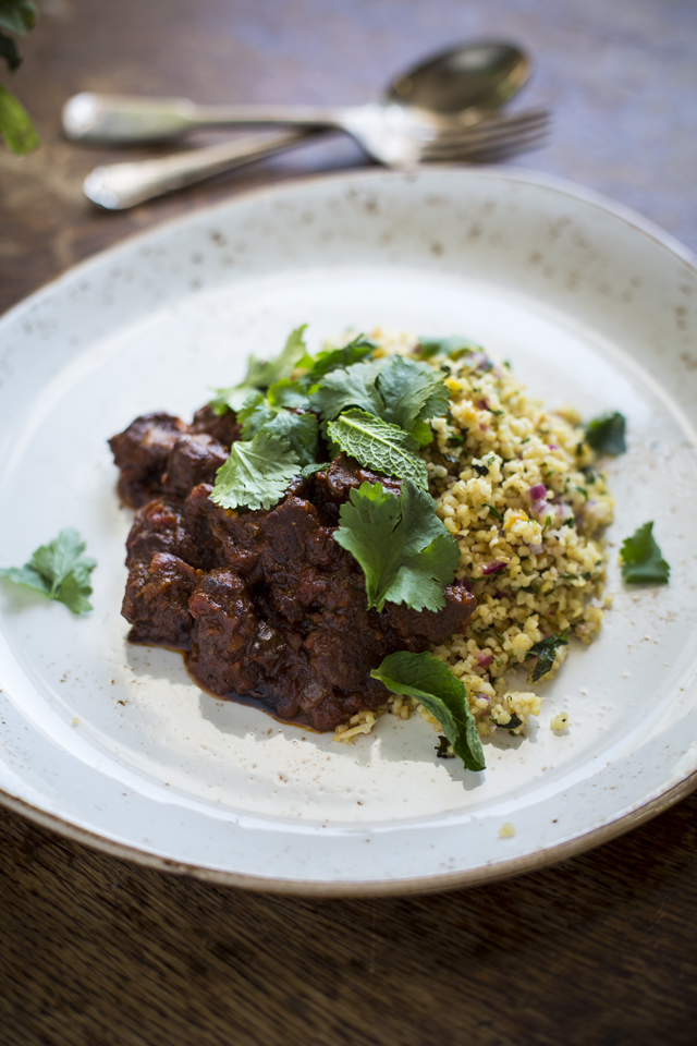 Moroccan Goat Tagine with Bulgur Wheat Salad   DonalSkehan.com, Perfect midweek dinner.