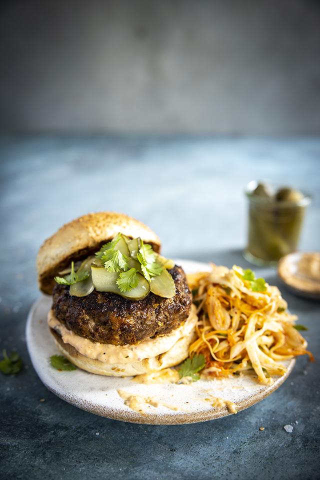 Bulgogi Burgers With Kimchi Slaw | DonalSkehan.com