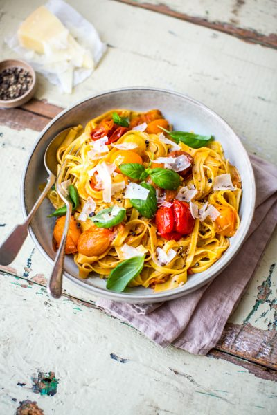 Brown Butter Confit Tomato Pasta