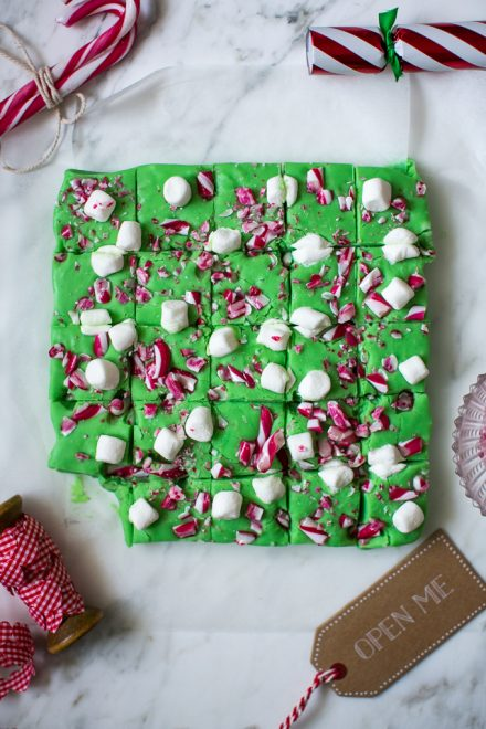 Christmas Candy Cane & Marshmallow Fudge   DonalSkehan.com, Santa's elves would definitely approve of this Christmas fudge!