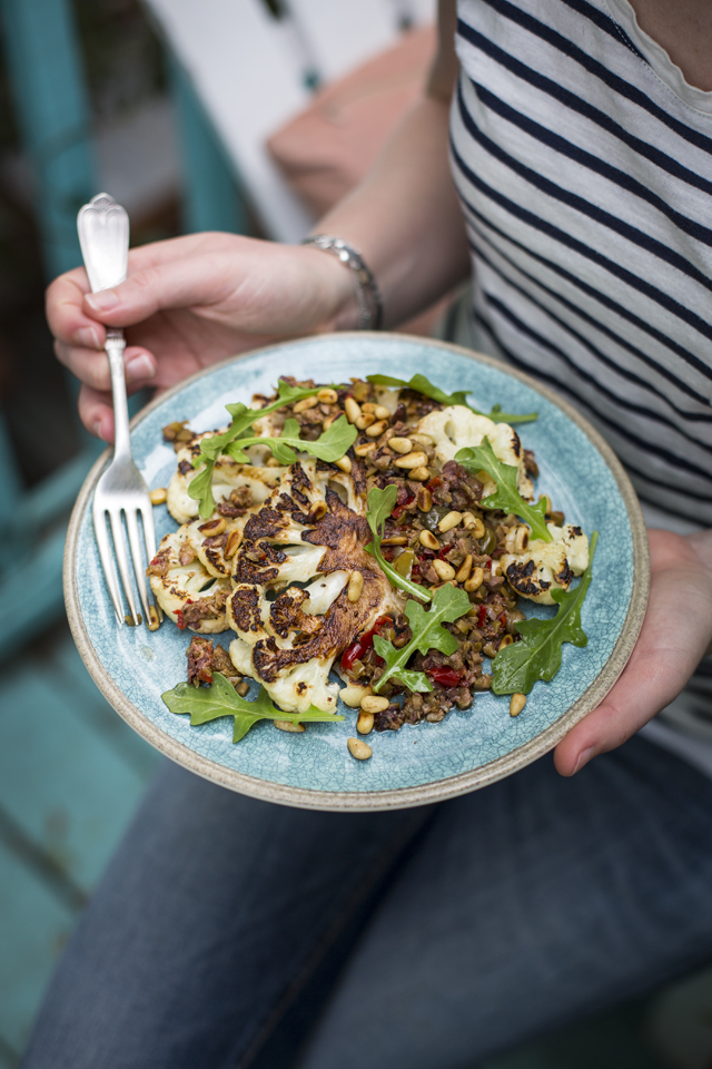Cauliflower T-Bone Steak   DonalSkehan.com, Not what you're expecting but down right delicious!