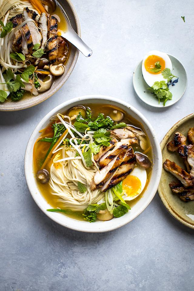 Charred Chicken Ramen Bowls | DonalSkehan.com
