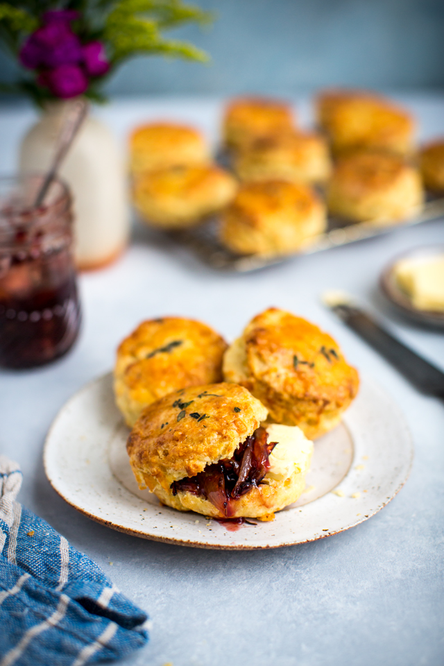 Cheddar & Thyme Scones | DonalSkehan.com, Cheesy, fluffy and perfect for afternoon tea!