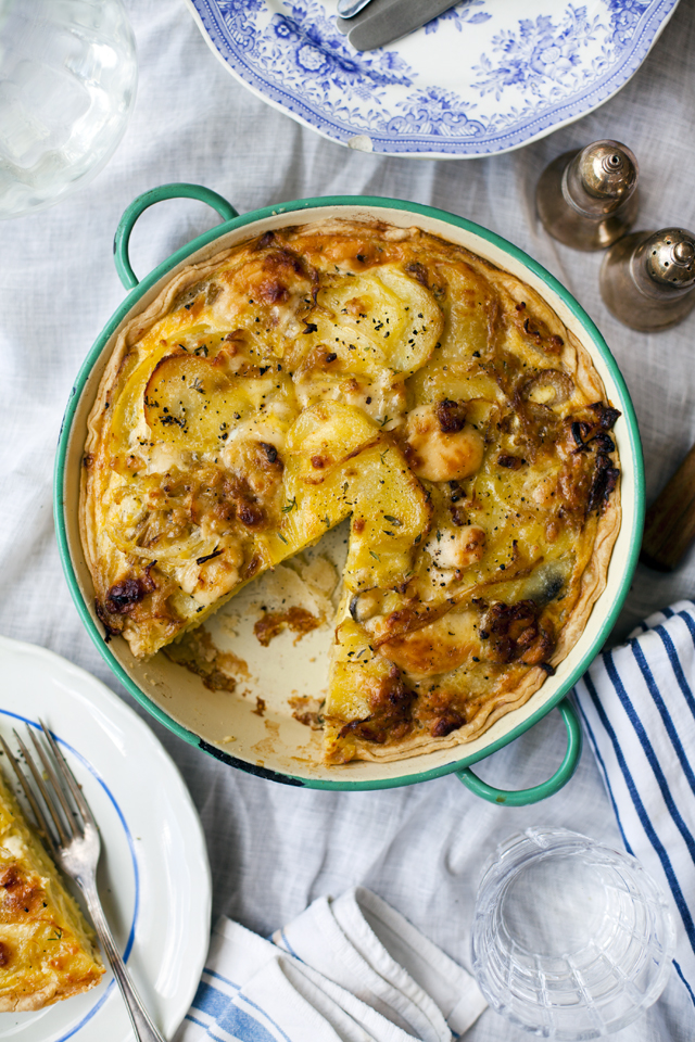 Potato, Cheese & Thyme Tart | DonalSkehan.com, Taking leftovers up a notch!