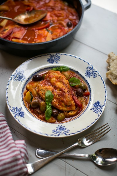 One Pan Chicken Cacciatore