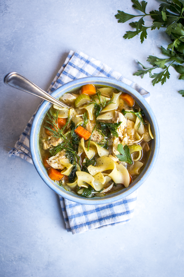 Chicken Noodle Soup | DonalSkehan.com, Quick midweek soup