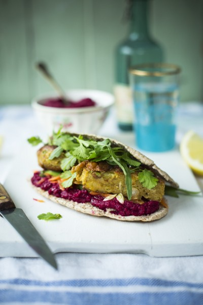 Moroccan Chickpea Burgers