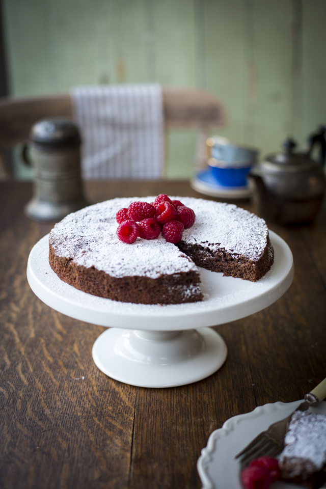 One Pot Chocolate Cake | DonalSkehan.com, An intensely chocolate easy-to-make dessert from Sweden.