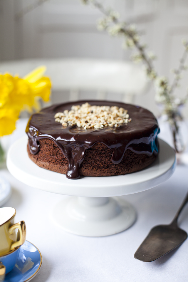 Dark Chocolate Hazelnut Mud Pie | DonalSkehan.com, The ultimate gluten-free chocolate cake recipe - and a snip to make!