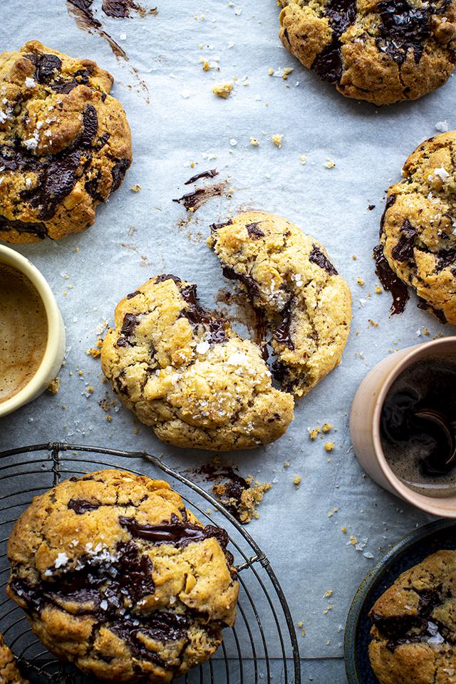 Dark Chocolate, Toasted Hazelnut & Sea Salt Cookies | DonalSkehan.com