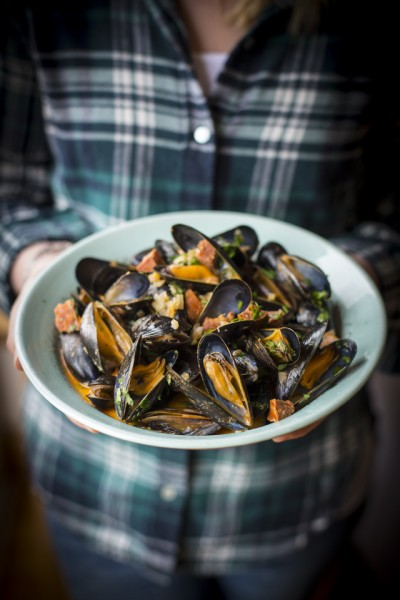 Spiced Mussels with Chorizo & Irish Cider