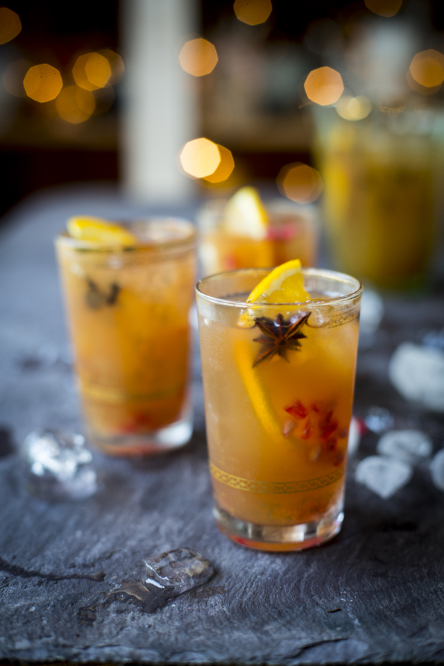 Pomegranate & Orange Punch | DonalSkehan.com, The perfect festive drink for parties!