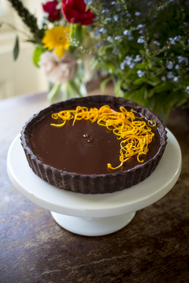 Chocolate Orange Tart | DonalSkehan.com, Delicious grown-up dessert.