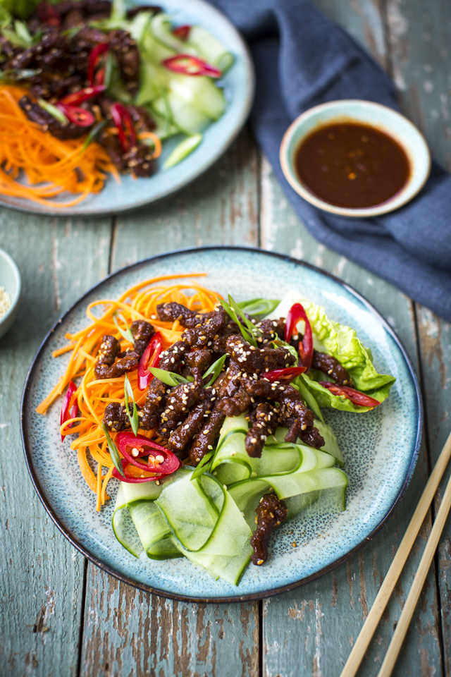 Crispy fried beef salad   DonalSkehan.com, Healthy midweek meal with a twist.