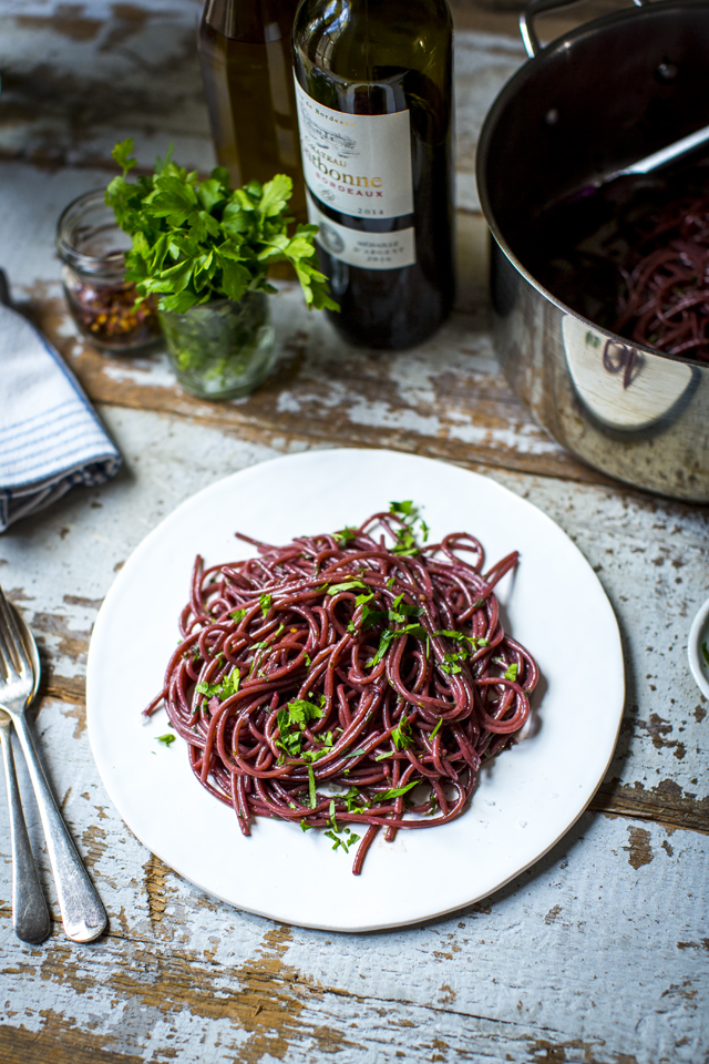 Drunken Spaghetti | DonalSkehan.com, Pasta and and a glass of red is a marriage made in heaven. I've combined the two in one delicious dish for a midweek meal with maximum impact.