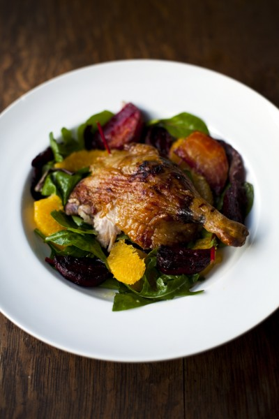 Duck, Beetroot and Orange Salad
