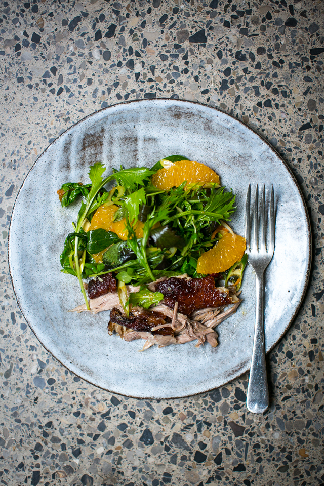 Shredded Duck & Orange Salad | DonalSkehan.com, Impressive starter for all year around entertaining.