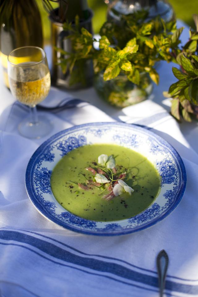 Pea, Mint & Ham Hock Soup | DonalSkehan.com, Impressive, light & refreshing summer lunch.