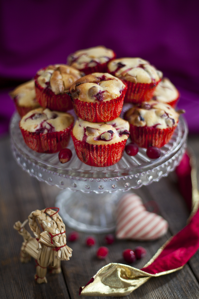 Cranberry and White Chocolate Muffins   DonalSkehan.com, Delicious Christmas morning snack for santa!