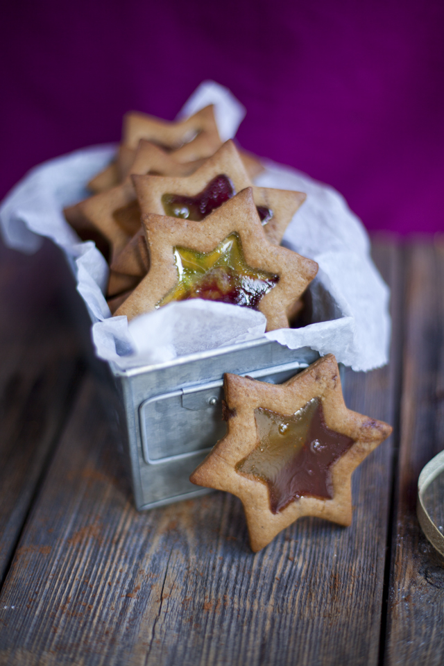Stained Glass Christmas Tree Cookies | DonalSkehan.com, Impressive looking cookies.