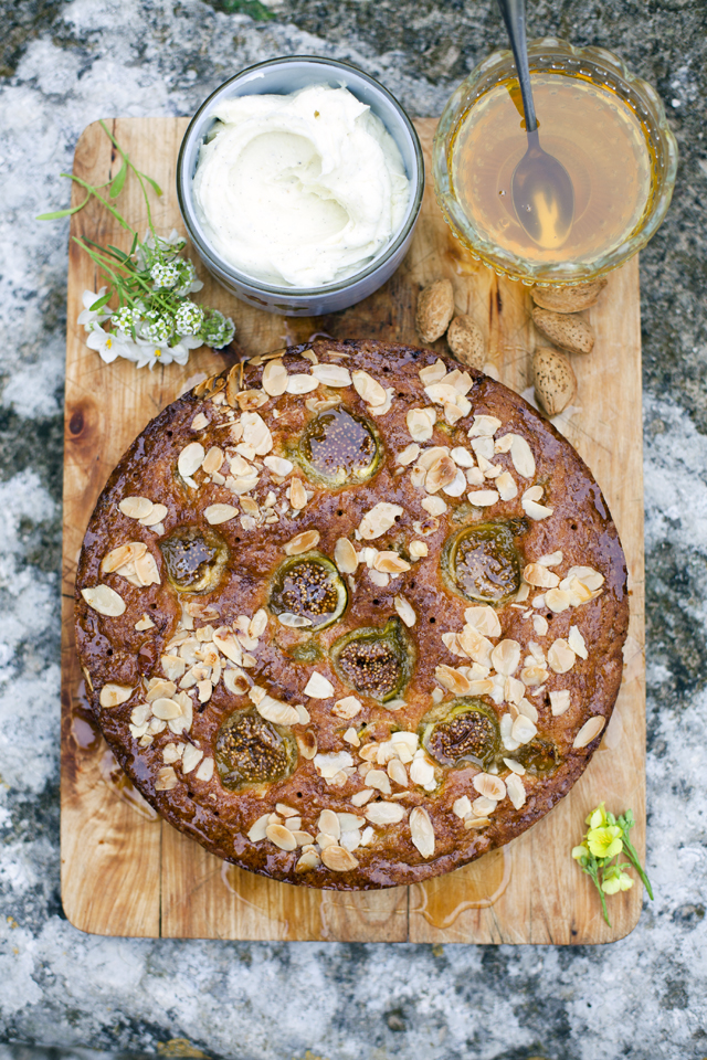Fig, Almond & Honey Cake | DonalSkehan.com, Perfect treat to end Sunday lunch or just as good with a simple cup of tea!