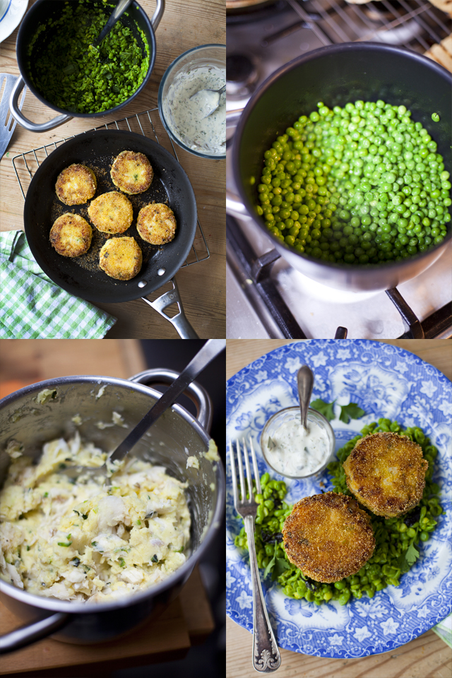 Fish Cakes Minty Peas copy