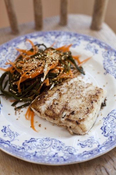 Donal Skehan Pan Fried Hake With Carrot And Sea