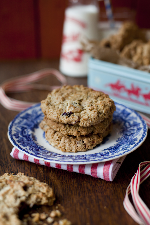 Cranberry & White Chocolate Cookies | DonalSkehan.com, Perfect treat for Santa.