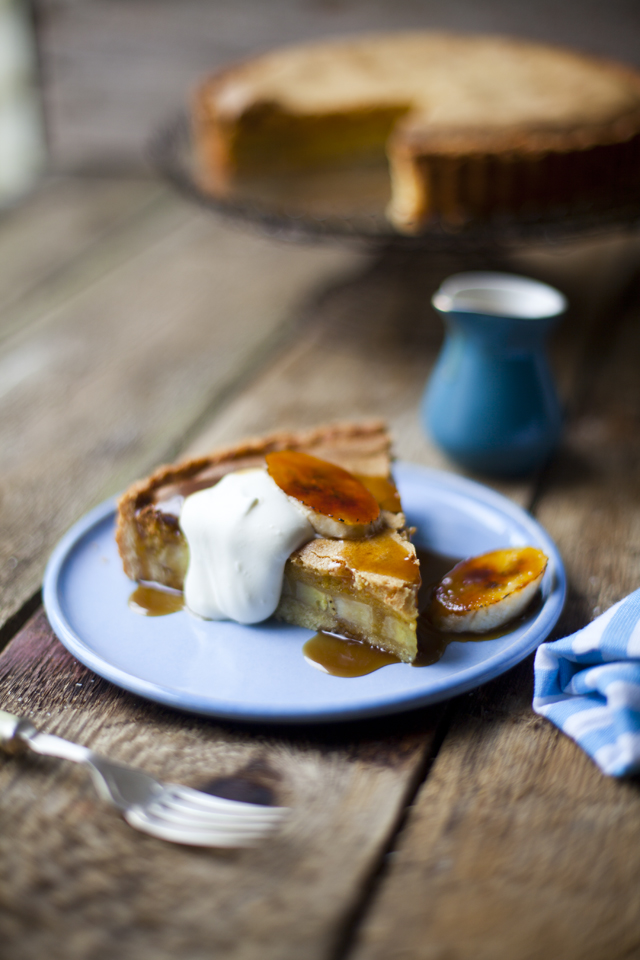 Banana Foster Brown Butter Tart! | DonalSkehan.com, Inspired by Banana Foster, this Banana Tart is a real treat.