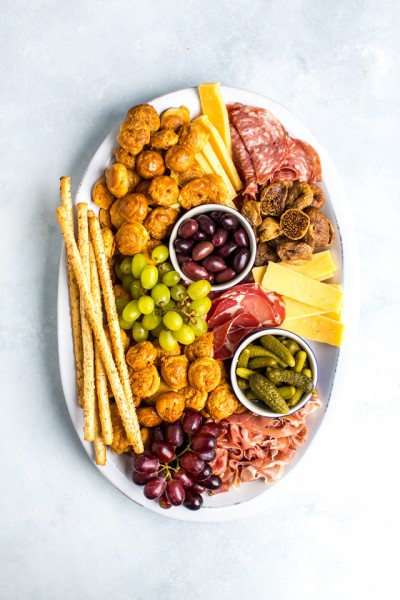 Cheesy Gougere Platter with Charcuterie