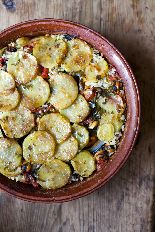 Riso Patate E Cozze (Baked Mussel & Potato Risotto)   DonalSkehan.com, A stand out dish from my Italian adventure!
