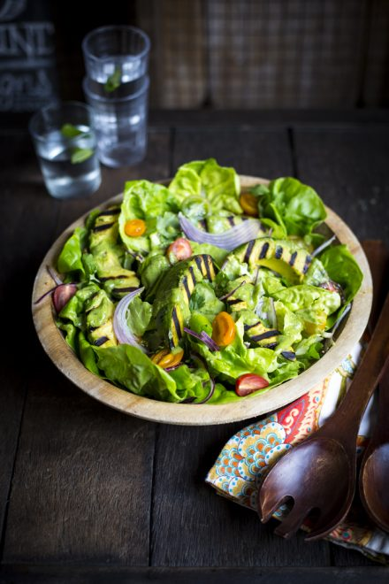 Green Goddess Grilled Avocado Salad   DonalSkehan.com, Because none of us can get enough avocados!