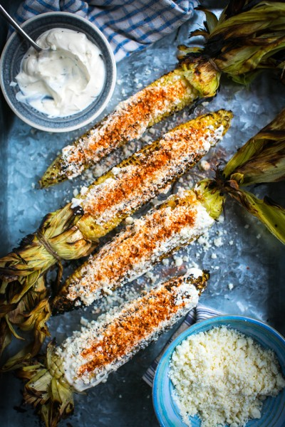 Mexican Grilled Corn (Elote)